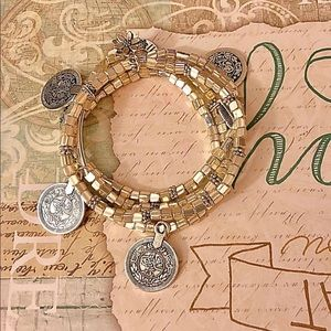 Jewelry - Handmade 4 gypsy bracelets with coins charm